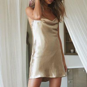 Lovers + Friends Lover Girl Slip Mini Dress